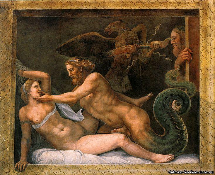 Секс на картинах джулио романо